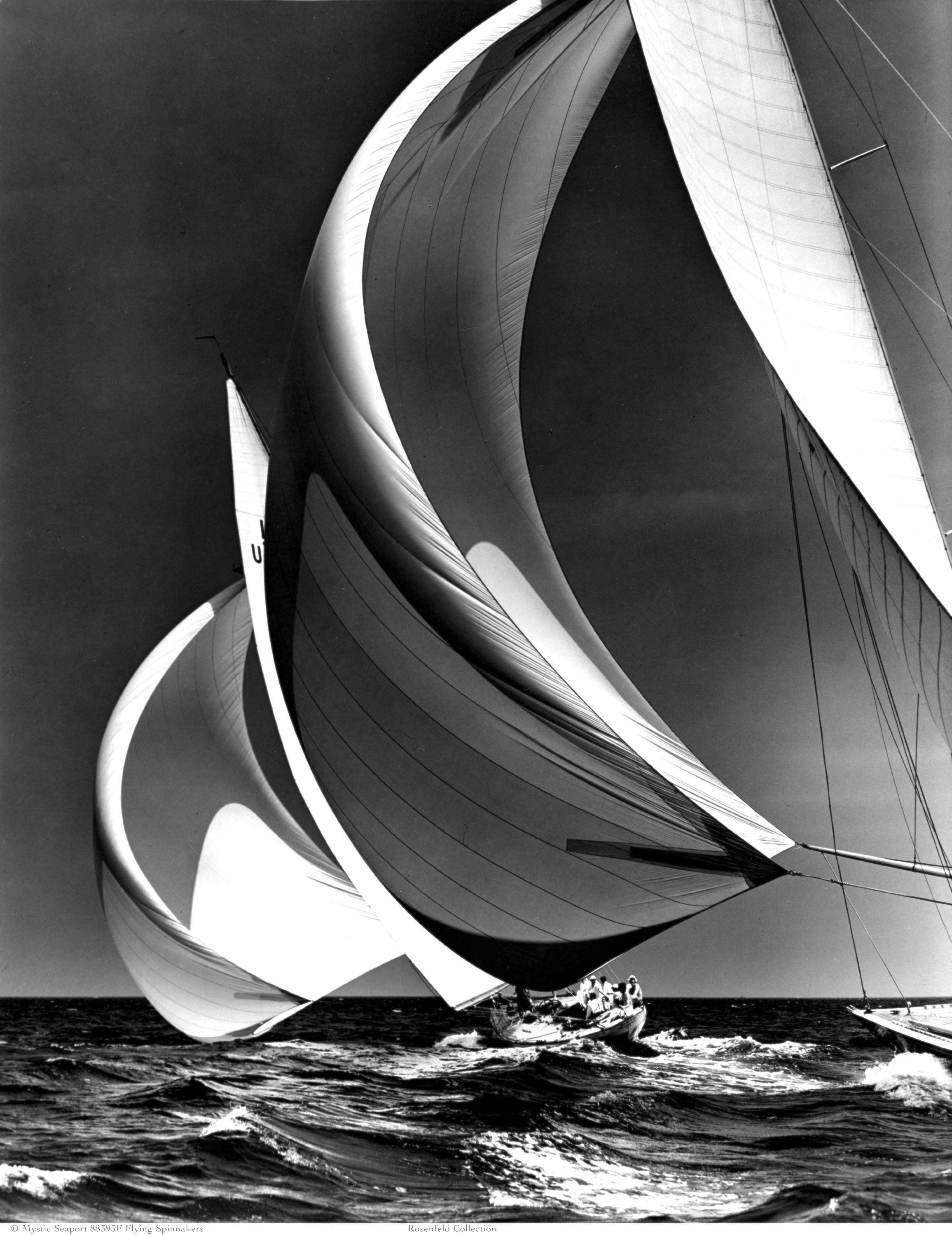 Flying Spinnakers (C) Mystic Seaport, Rosenfeld Collection