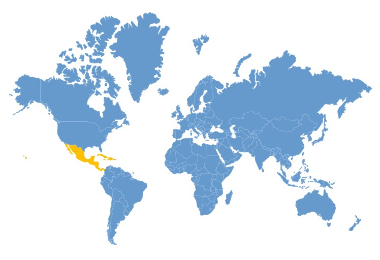 World Map - Central-America